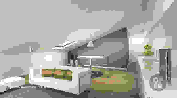 Sótão – Leiria Salas de estar modernas por ATELIER OPEN ® - Arquitetura e Engenharia Moderno