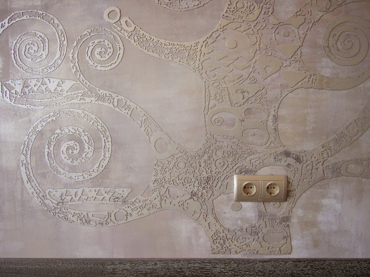 Декоративная настенная роспись, фрагмент от мастерская22 Эклектичный