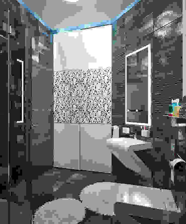 Гостевые апартаменты в современном стиле Ванная комната в стиле минимализм от Студия дизайна Interior Design IDEAS Минимализм