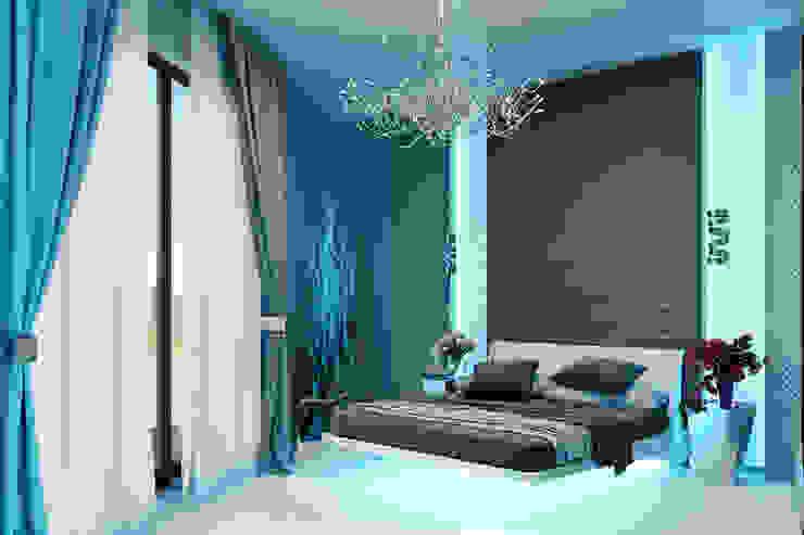 Гостевые апартаменты в современном стиле Спальня в стиле минимализм от Студия дизайна Interior Design IDEAS Минимализм