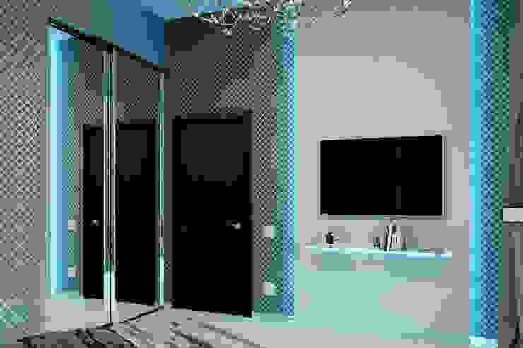 Гостевые апартаменты в современном стиле Коридор, прихожая и лестница в стиле минимализм от Студия дизайна Interior Design IDEAS Минимализм