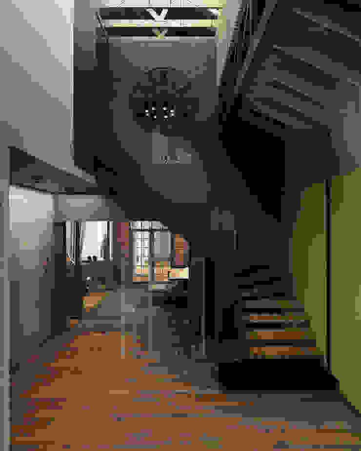 H7 Коридор, прихожая и лестница в классическом стиле от he.d group Классический Дерево Эффект древесины