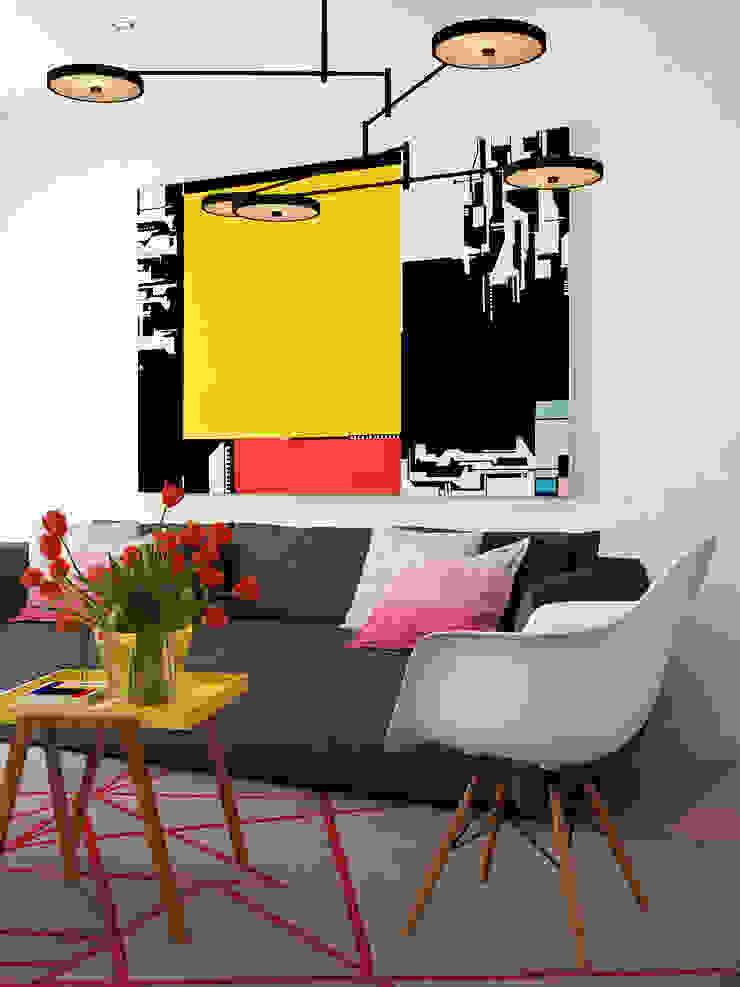 The Living Salas de estar minimalistas por José Tiago Rosa Minimalista
