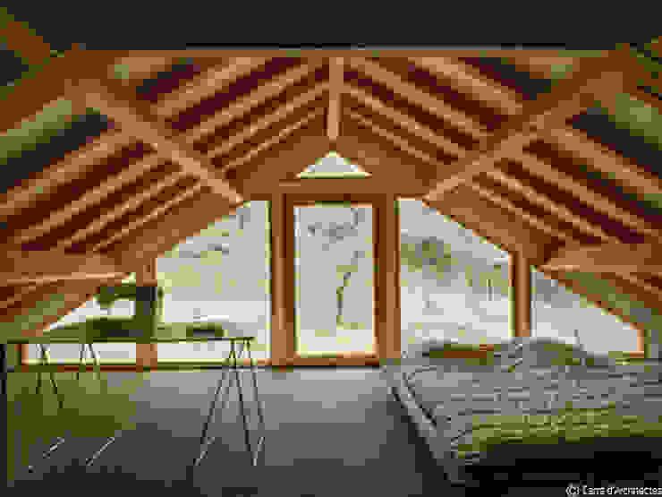 Maison MD Chambre moderne par CARRE d'ARCHITECTES Moderne Bois massif Multicolore