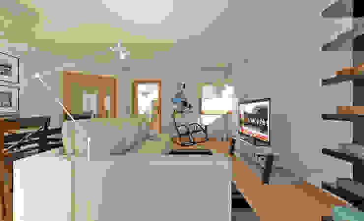 Apartamento Ikea: Salas de estar  por José Tiago Rosa