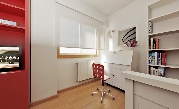 Apartamento Ikea Espaços de trabalho minimalistas por José Tiago Rosa Minimalista