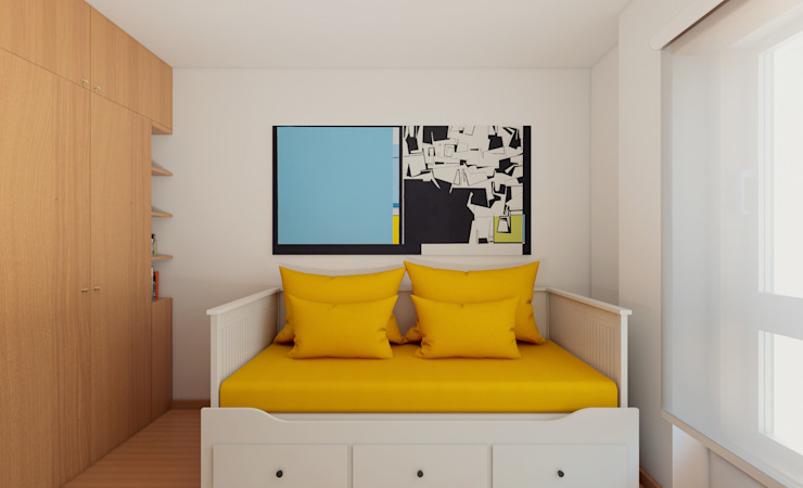 Apartamento Ikea Quartos de criança minimalistas por José Tiago Rosa Minimalista