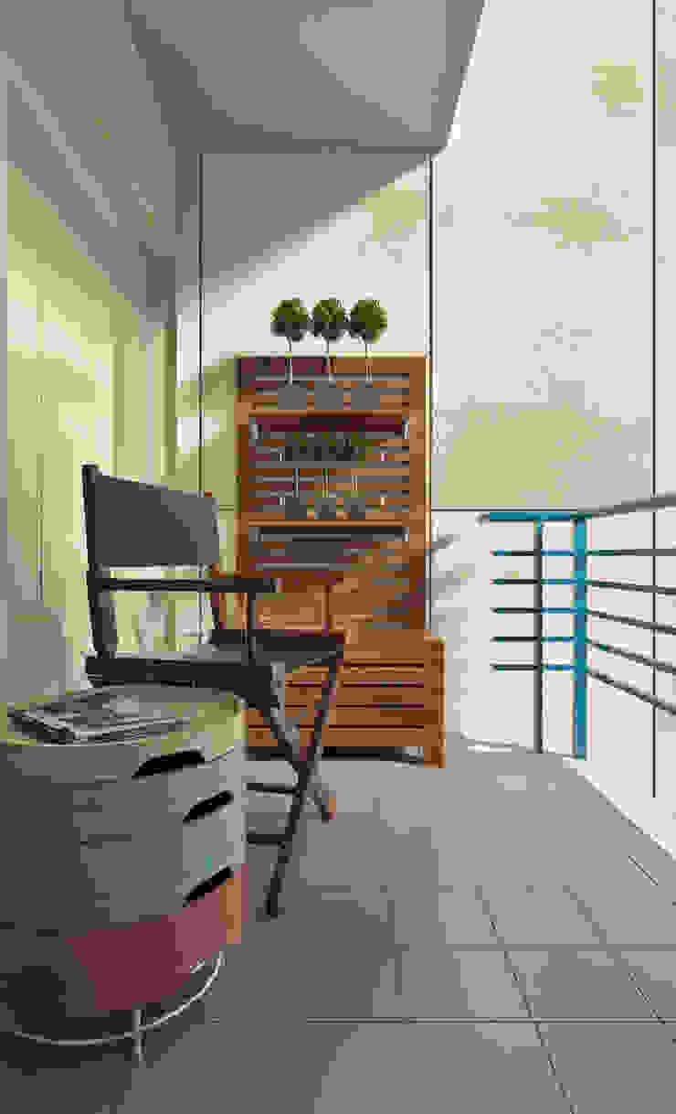 Apartamento Ikea Varandas, marquises e terraços minimalistas por José Tiago Rosa Minimalista