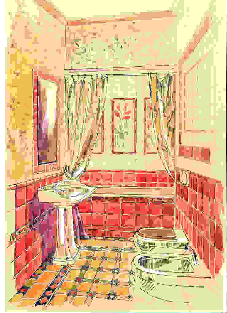 Таунхаус в поселке «Ивакино». Ванная в классическом стиле от Архитектурно-дизайнерская компания Сергея Саргина Классический