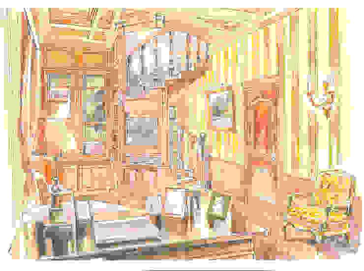 Таунхаус в поселке «Ивакино». Рабочий кабинет в классическом стиле от Архитектурно-дизайнерская компания Сергея Саргина Классический