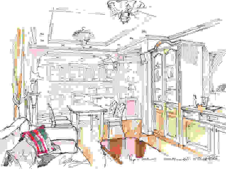 Квартира в ЖК «Московский». Столовая комната в классическом стиле от Архитектурно-дизайнерская компания Сергея Саргина Классический