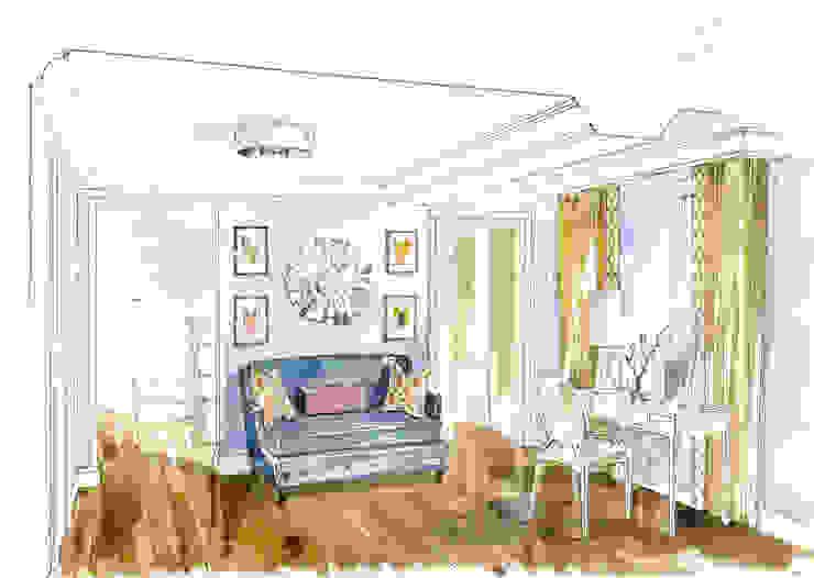 «Коллекционер времени». Спальня в стиле лофт от Архитектурно-дизайнерская компания Сергея Саргина Лофт