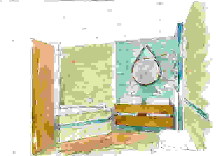 «Коллекционер времени». Ванная в стиле лофт от Архитектурно-дизайнерская компания Сергея Саргина Лофт