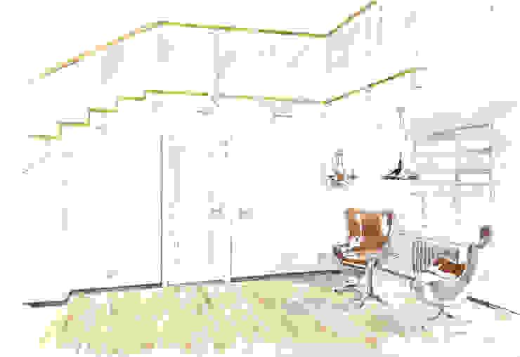 «Коллекционер времени». Коридор, прихожая и лестница в стиле лофт от Архитектурно-дизайнерская компания Сергея Саргина Лофт