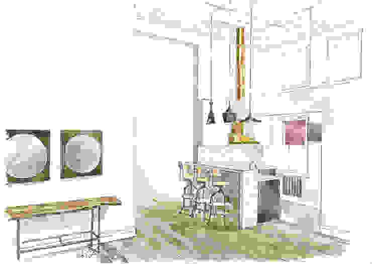 «Коллекционер времени». Кухня в стиле лофт от Архитектурно-дизайнерская компания Сергея Саргина Лофт