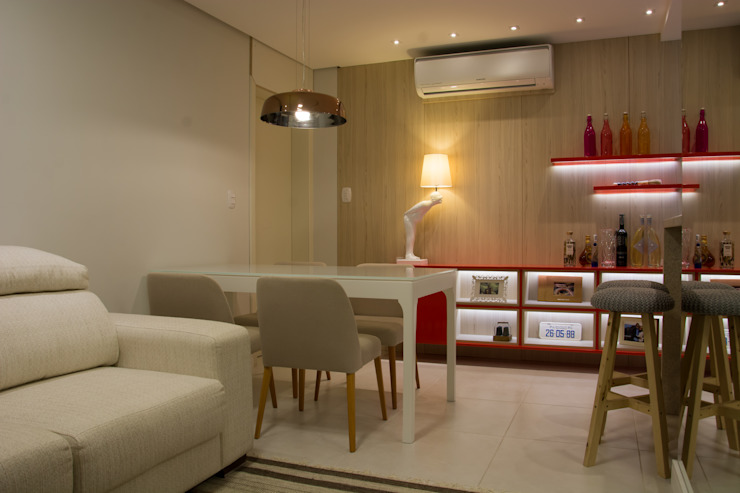ARQ Ana Lore Burliga Miranda Modern dining room Wood Red