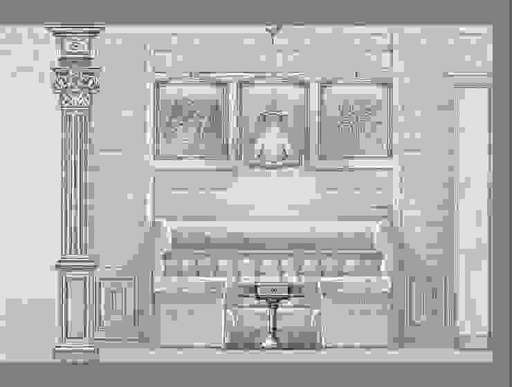 Загородный дом в поселке «Антоновка». Коридор, прихожая и лестница в рустикальном стиле от Архитектурно-дизайнерская компания Сергея Саргина Рустикальный