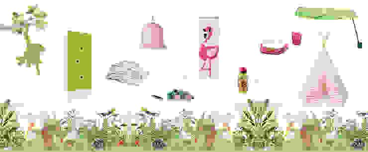 Decorazioni per la cameretta ispirate alla natura Stanza dei bambini in stile mediterraneo di amisuradibimbo Mediterraneo