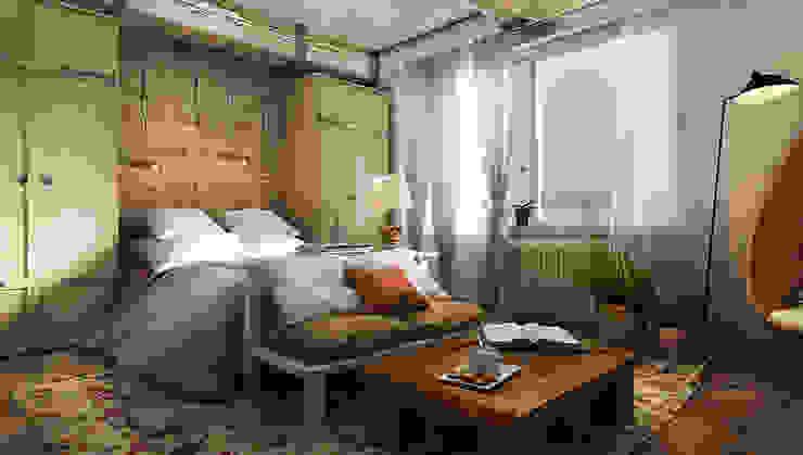 Фантазия Спальня в стиле лофт от he.d group Лофт