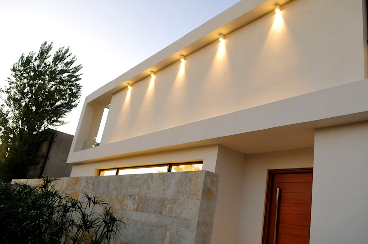 Facade Casas modernas de Ramirez Arquitectura Moderno Piedra