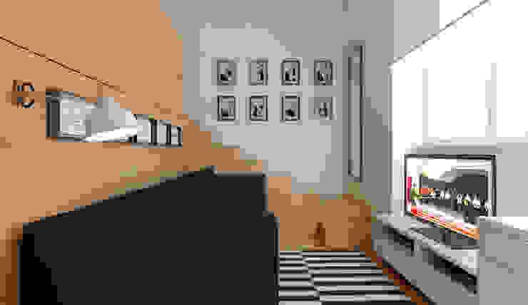 Micro Loft Salas de estar minimalistas por José Tiago Rosa Minimalista
