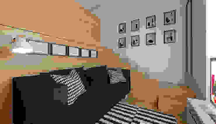 Micro Loft: Salas de estar  por José Tiago Rosa