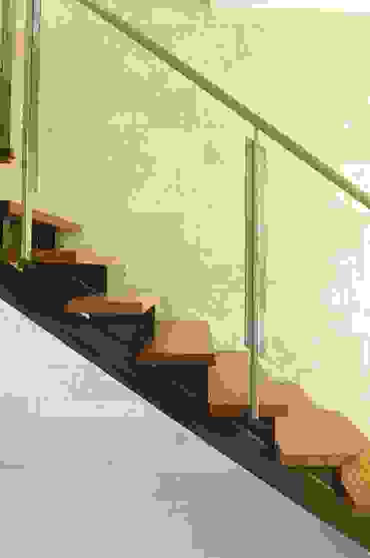 Ramirez Arquitectura Corredor, vestíbulo e escadasEscadas Madeira Castanho