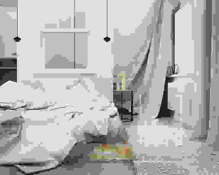 Н9 Спальня в стиле минимализм от he.d group Минимализм