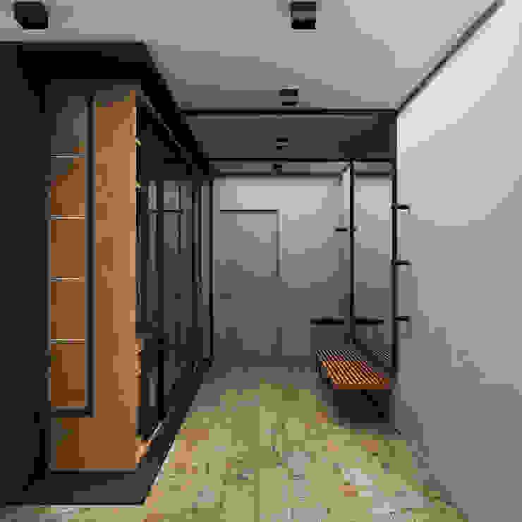 Н9 Коридор, прихожая и лестница в стиле минимализм от he.d group Минимализм Дерево Эффект древесины