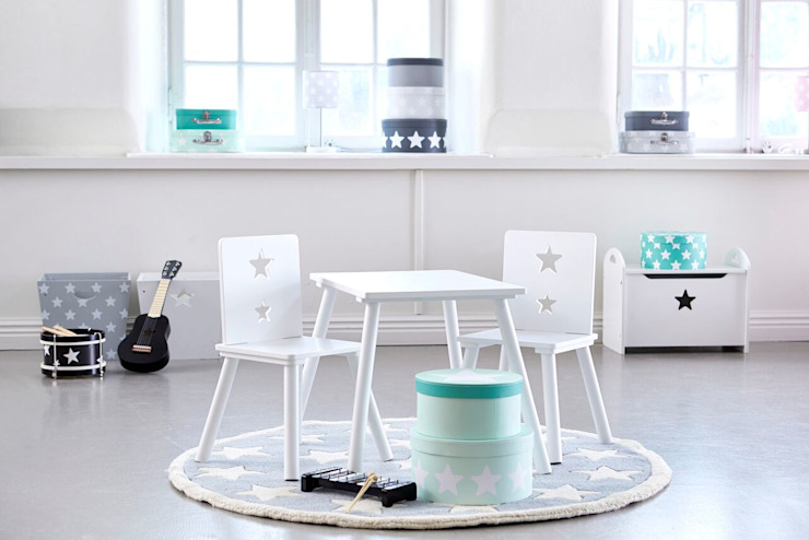 Kids Concept White Table Viva Lagoon Ltd 嬰兒/兒童房桌椅 木頭 White