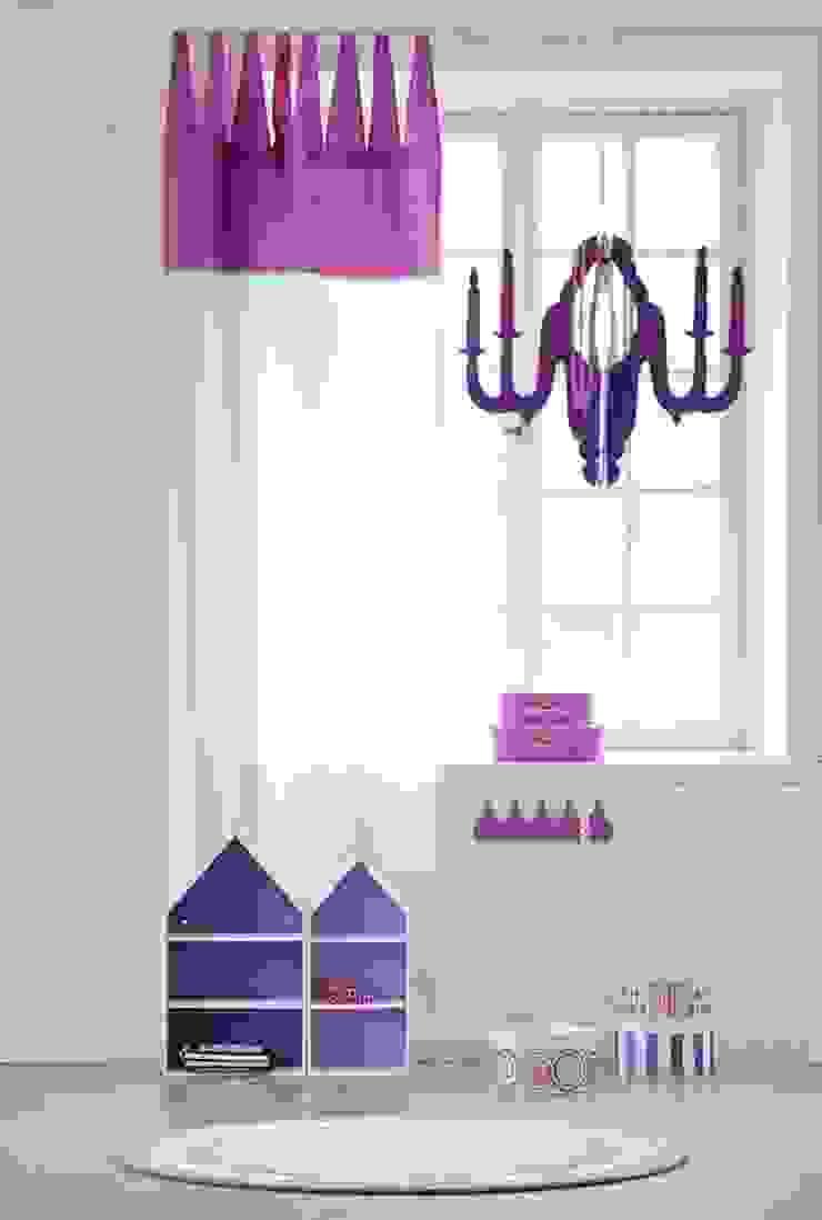 KIDS CONCEPT CHILD FAIRY WOODEN CHANDELIER CEILING LAMP-PINK Viva Lagoon Ltd 嬰兒/兒童房照明 木頭 Purple/Violet