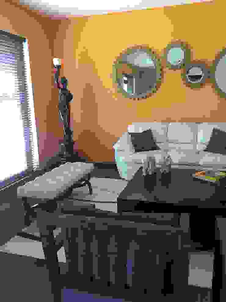 Sala Livings de estilo moderno de Helio interiores Tehuacan Moderno