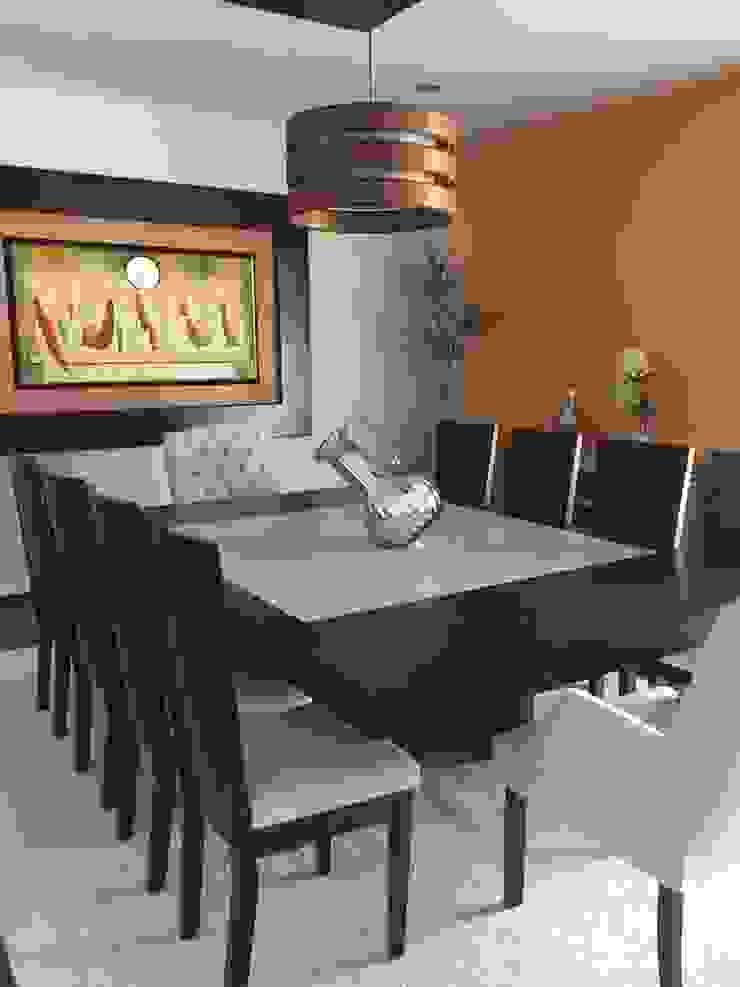 Comedor Comedores de estilo moderno de Helio interiores Tehuacan Moderno