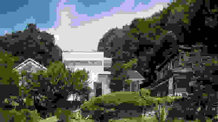 やまの根っこの家 正面外観 オリジナルな 家 の 優人舎一級建築士事務所 オリジナル