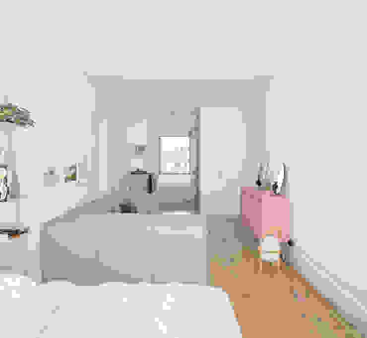 Scandinavian style bedroom by homify Scandinavian Wood Wood effect