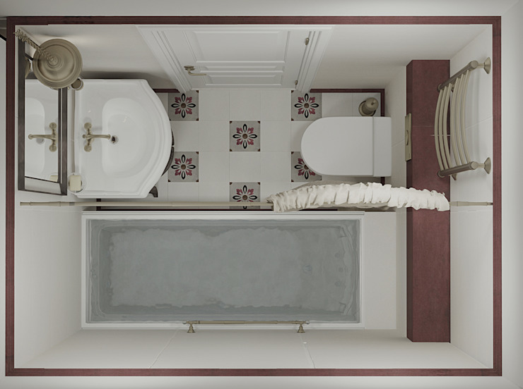 Ванная Ванная комната в скандинавском стиле от Ольга Бондарь Скандинавский