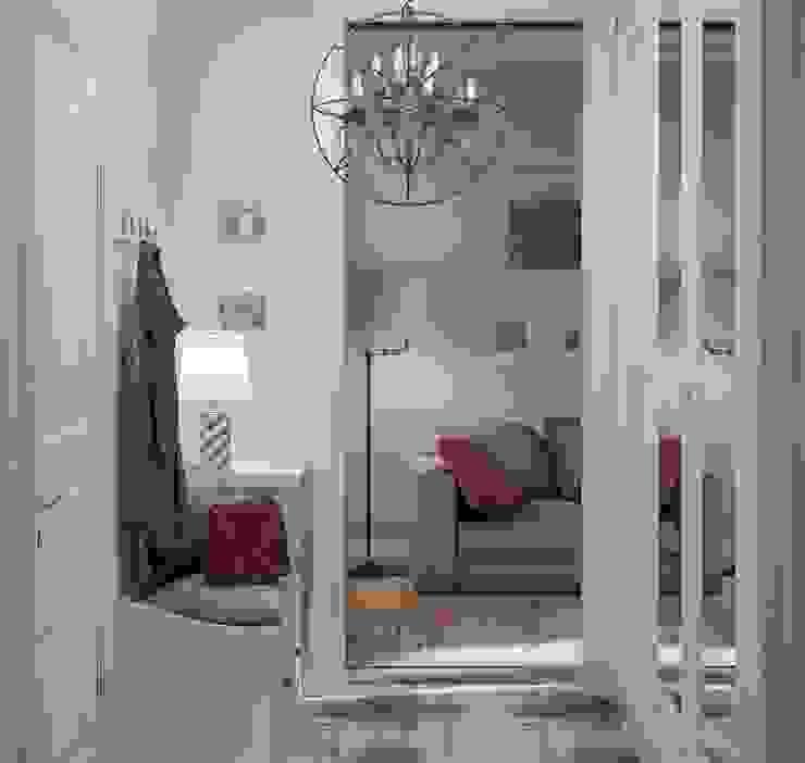 Прихожая Коридор, прихожая и лестница в скандинавском стиле от Ольга Бондарь Скандинавский
