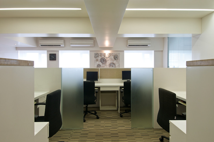 CE Office Modern offices & stores by KdnD Studio LLP Modern