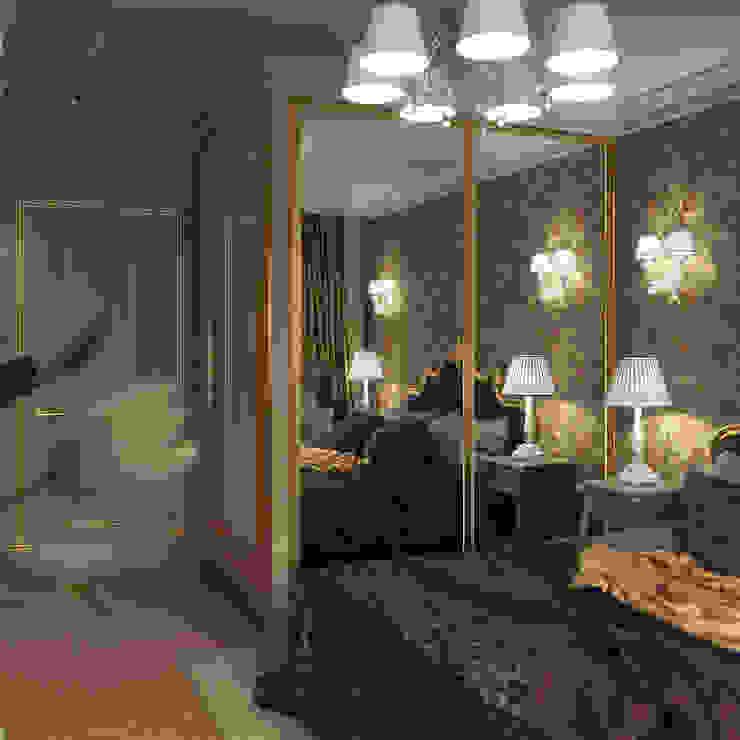 Дизайн квартиры 75 кв.м. в классическом стиле. Спальня в классическом стиле от Студия Архитектуры и Дизайна Алисы Бароновой Классический