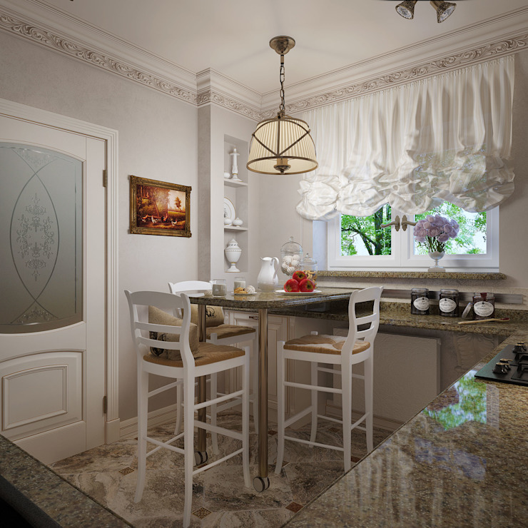 Дизайн квартиры 75 кв.м. в классическом стиле. Кухня в классическом стиле от Студия Архитектуры и Дизайна Алисы Бароновой Классический