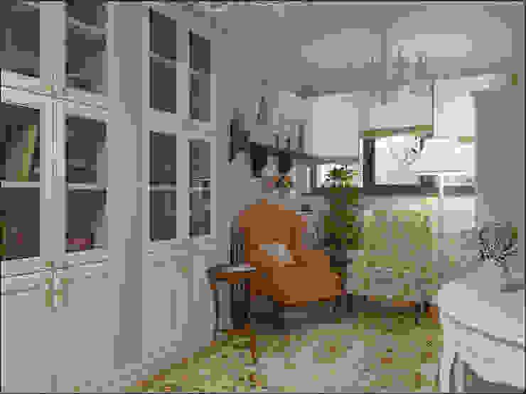 Дизайн квартиры 75 кв.м. в классическом стиле. Гостиная в классическом стиле от Студия Архитектуры и Дизайна Алисы Бароновой Классический