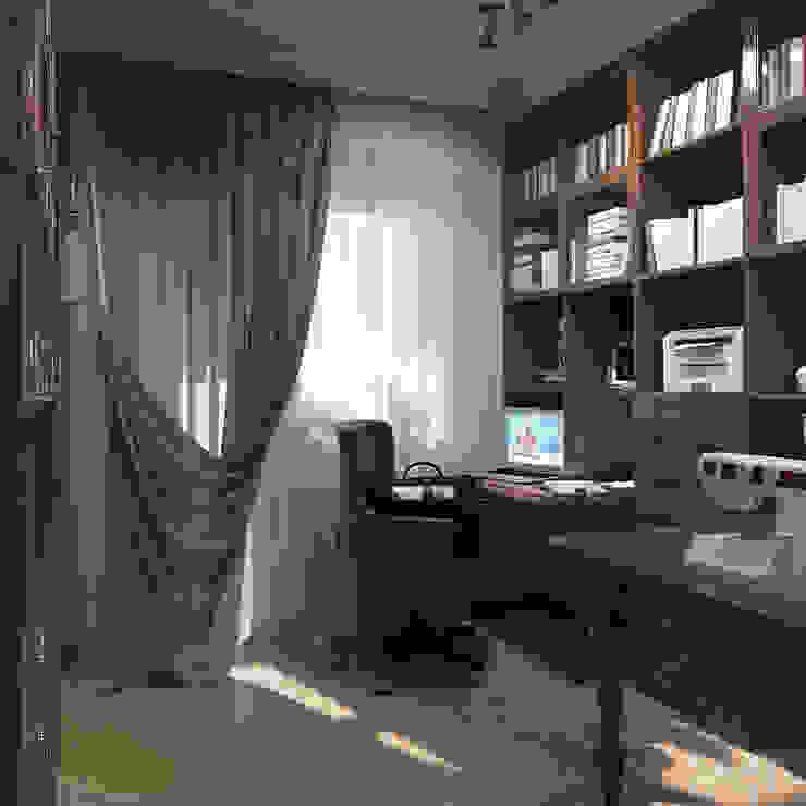 Дизайн квартиры 75 кв.м. в классическом стиле. Рабочий кабинет в классическом стиле от Студия Архитектуры и Дизайна Алисы Бароновой Классический