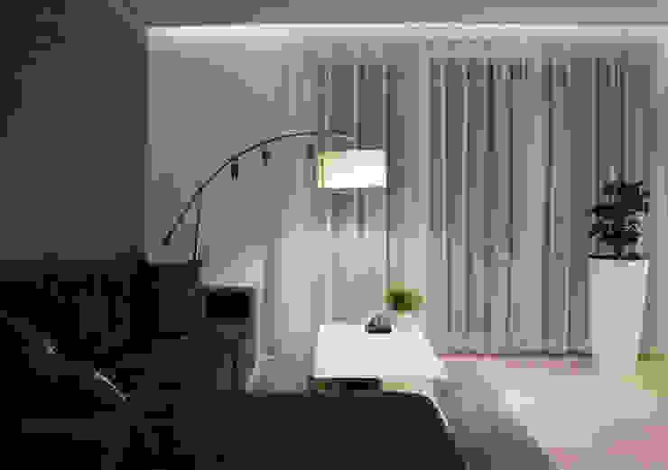 Realizacja wnętrz mieszkania  w Tychach: styl , w kategorii Salon zaprojektowany przez Architekt Adam Wawoczny,Nowoczesny