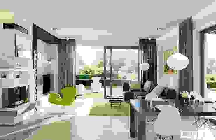 Salas modernas de Pracownia Projektowa ARCHIPELAG Moderno