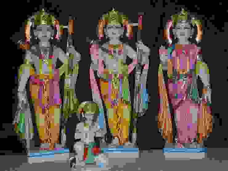 Ram Darbar Modern living room by Vinod Murti Museum Modern Marble