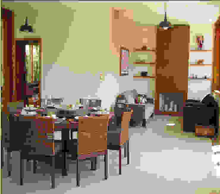 Casa de Campo em Atibaia Salas de jantar campestres por GATE Arquitetos Associados Campestre
