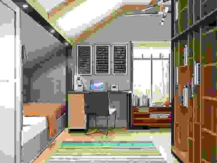 Industrial style study/office by Студия братьев Жилиных Industrial