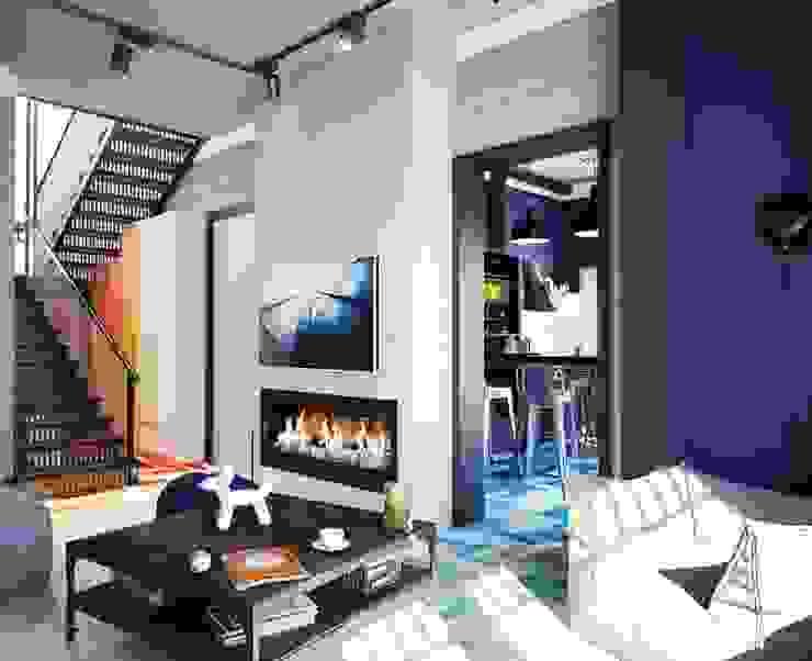 Industrial style living room by Студия братьев Жилиных Industrial