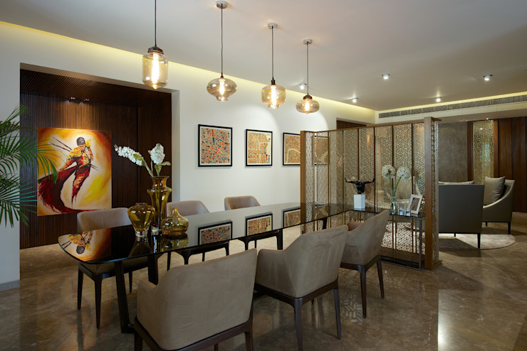 CE Apartment Modern dining room by KdnD Studio LLP Modern