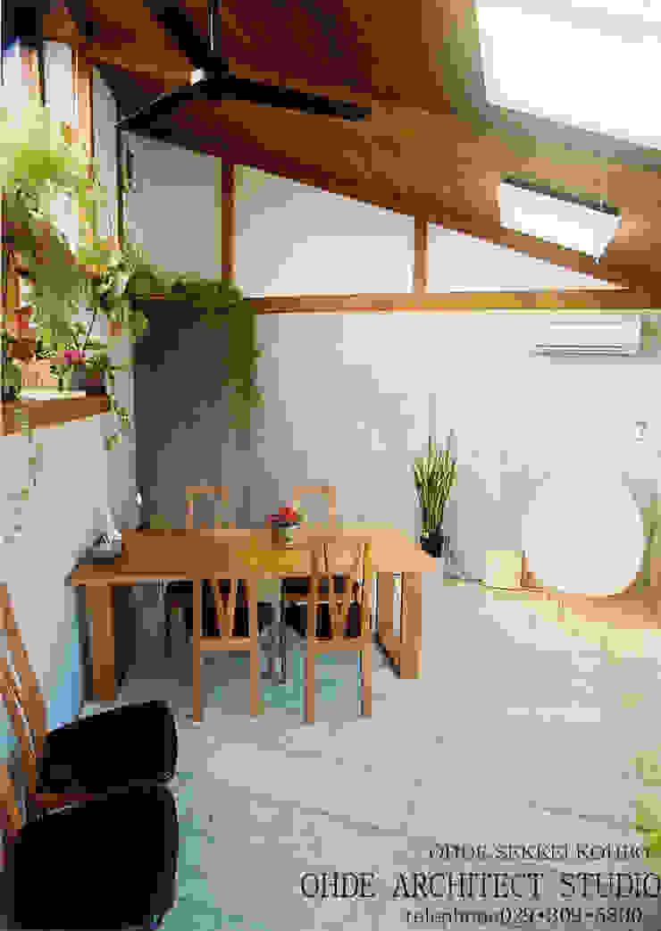 住宅作品 モダンデザインの ダイニング の 大出設計工房 OHDE ARCHITECT STUDIO モダン 木 木目調
